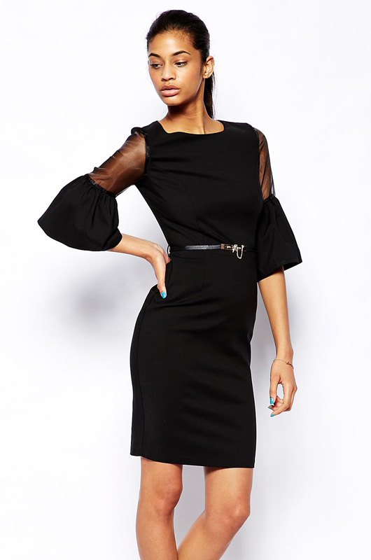 Маленькое Черное Платье Рукав