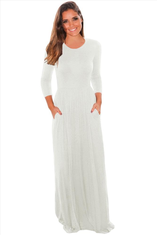Белое Платье Макси Купить
